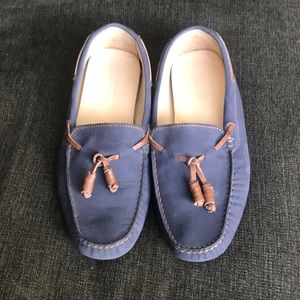 J Crew women's sueded leather driving moc size 8